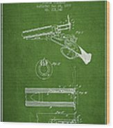 Breech Loading Shotgun Patent Drawing From 1879 - Green Wood Print