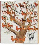 Breeds Tree Wood Print