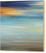 Breeze-seascapes Abstract Art Wood Print