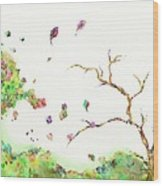 Breezy Canopy Wood Print