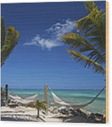 Breezy Island Life Wood Print by Adam Romanowicz