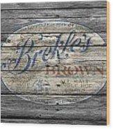 Brekles Brown Wood Print