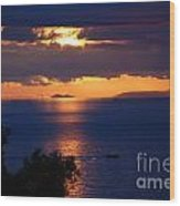 Brela Sunset Croatia Wood Print