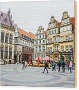Bremen Main Square Wood Print