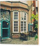 Bremen Schnoor Cafe Wood Print