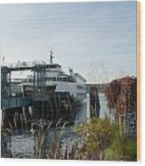 Bremerton Wa Ferry Doc Wood Print