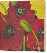 Brenda's Poppies Wood Print