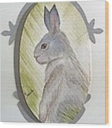 Brer Rabbit Wood Print by Brenda Ruark