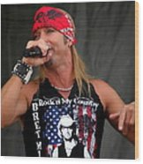 Bret Michaels In Philly Wood Print