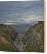 Bretagne Cliffs Wood Print