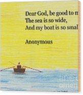 Breton Fisherman's Prayer Wood Print