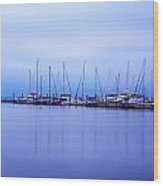 Brewer Yacht Yard At Cowesett Rhode Island Wood Print
