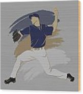 Brewers Shadow Player Wood Print
