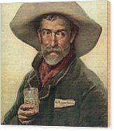 Brewery Ad 1889 Wood Print by Padre Art