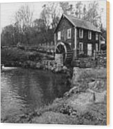 Brewster Grist Mill Wood Print