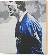 Brian Laudrup - Glasgow Rangers Fc Wood Print