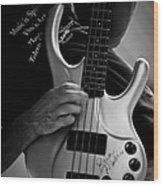 Brian Melvin Autographed Guitar Wood Print