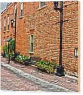 Brick Alley Wood Print by Baywest Imaging