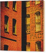 Brick And Glass Wood Print