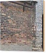 Brick Building Stop Wood Print