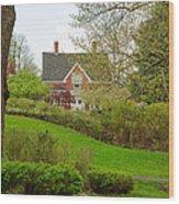 Brick Cottage Wood Print