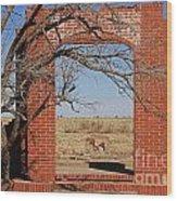 Brick Entry 1 Wood Print