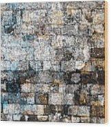 Brick Mosaic Wood Print by Stephanie Grant