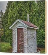 Brick Outhouse Wood Print