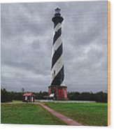 Brick Pathway To The Lighthouse Wood Print