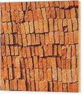 Brick Stack Wood Print