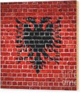 Brick Wall Albania Wood Print