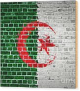 Brick Wall Algeria Wood Print