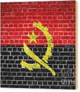 Brick Wall Angola Wood Print
