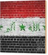 Brick Wall Iraq Wood Print