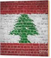 Brick Wall Lebanon Wood Print