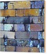 Brick Wall Of A Pottery Kiln Wood Print