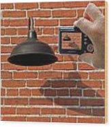 Brick Wall Snap Shot Wood Print