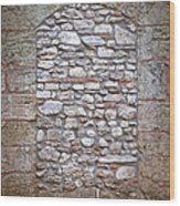 Bricked Up Doorway Wood Print