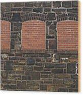 Bricked Windows   #2561 Wood Print