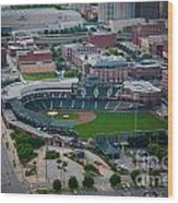 Bricktown Ballpark D Wood Print by Cooper Ross