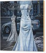 Bridal Dress Window Display In Ottawa Ontario Wood Print