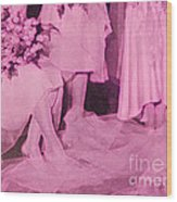 Bridal Pink By Jrr Wood Print