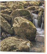 Bridal Veil Stream - Heber Springs Arkansas Wood Print
