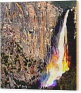 Bridalvail Falls Yosemite National Park Wood Print