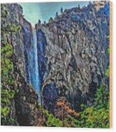 Bridalveil Falls In Yosemite Valley Wood Print