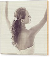 Bride At The Window Wood Print