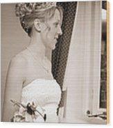 Bride Awaits Her Groom Wood Print