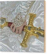 Sword In Hand Wood Print