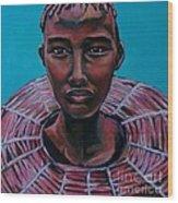 Bride - Portrait African Wood Print