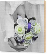 Bridesmaid Bouquet Wood Print